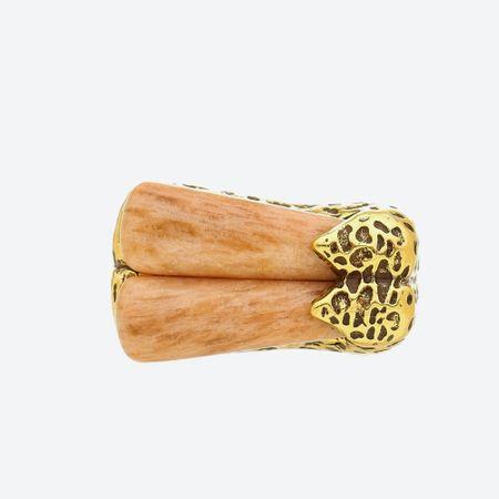 Anel Amazonita Shamballa Ouro
