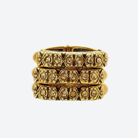 Anel Triplo Shamballa Ouro